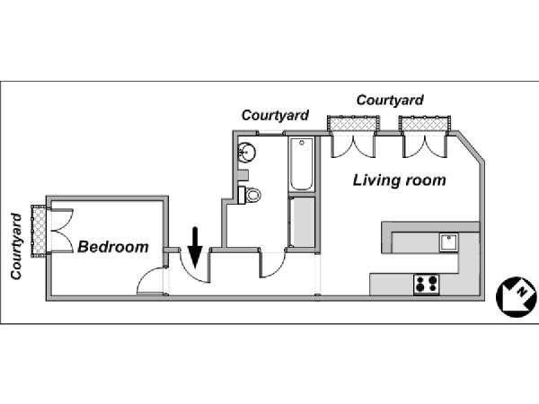 Logement paris location meubl e t2 porte de for Plan parc des expositions porte de versailles