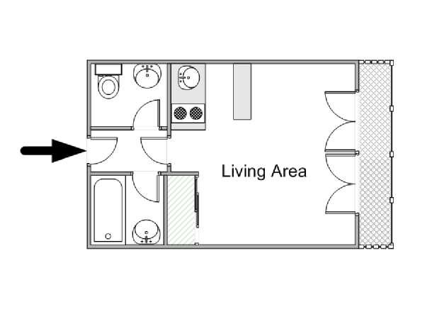 Wohnungsvermietung in paris studiowohnung porte de for Plan parc des expositions porte de versailles