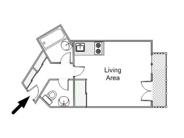 Logement paris location meubl e studio t1 porte de for Plan parc des expositions porte de versailles