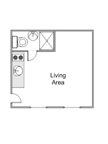 Paris Studio accommodation - apartment layout  (PA-4247)