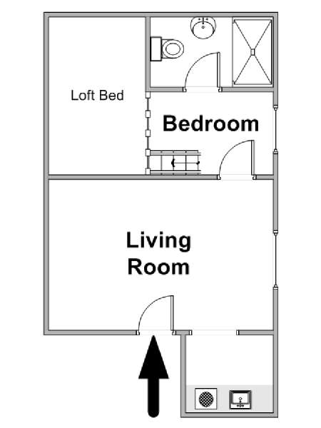 Paris T2 logement location appartement - plan schématique  (PA-4709)