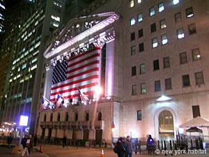 Financial District à New York. Photo de Wall Street.