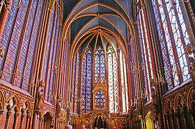 Tourisme et loisirs à Paris. Photo de la  Sainte Chapelle (Source Wikipedia)