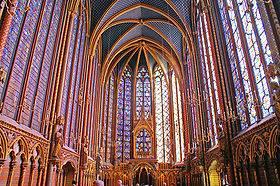 Tourisme et loisirs à Paris. Photo de la  Sainte Chapelle (Source Wikipedia)