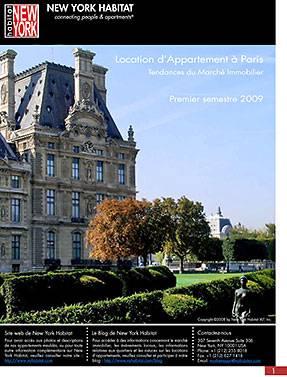 Location meublée et location de vacances à Paris. Rapport sur les tendances du marché au 1er semestre 2009