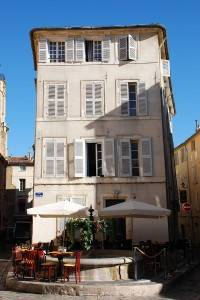 Photo : Une place à Aix-en-Provence, Sud de la France