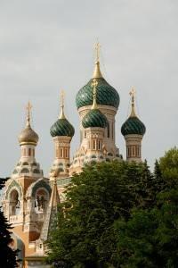 Photo : La cathédrale russe à Nice, Sud de la France