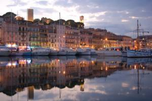 Photo : Port de Cannes de nuit