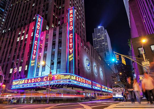 Photographie du city s radio city music hall à new york