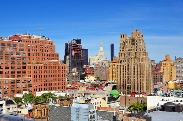 Vue du quartier de Chelsea à Manhattan
