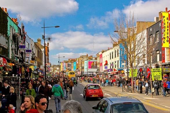 Les marché colorés de Camden à Londres