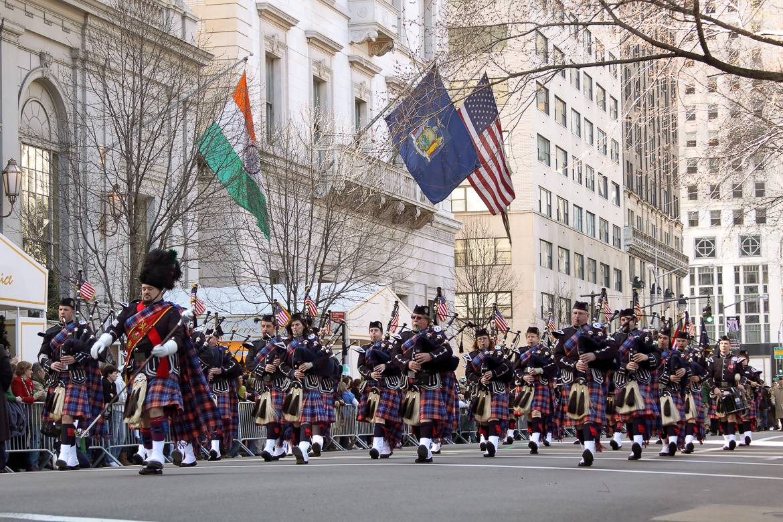 Image de la parade de la St Patrick.