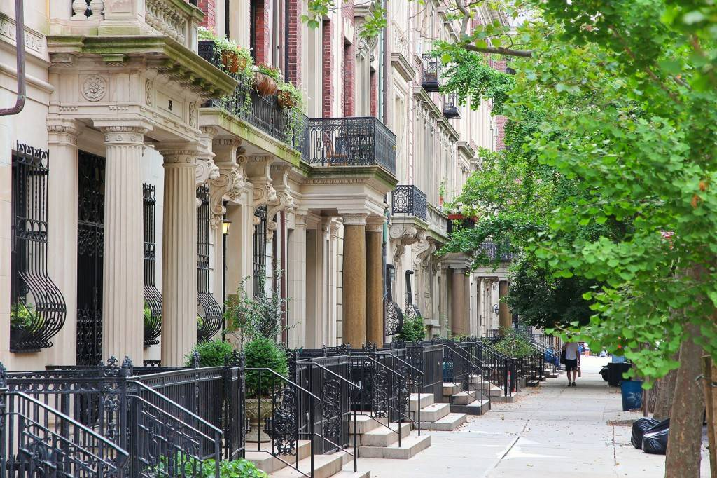 Photo des townhouses de l'Upper West Side