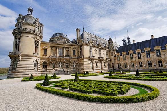 Photo du château de Chantilly et de ses jardins