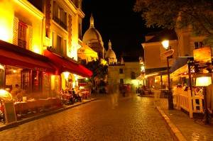 Montmartre di notte