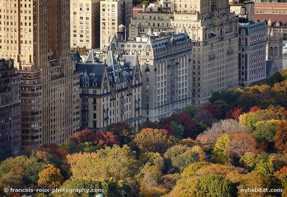 Foto di Central Park a New York nel periodo autunnale