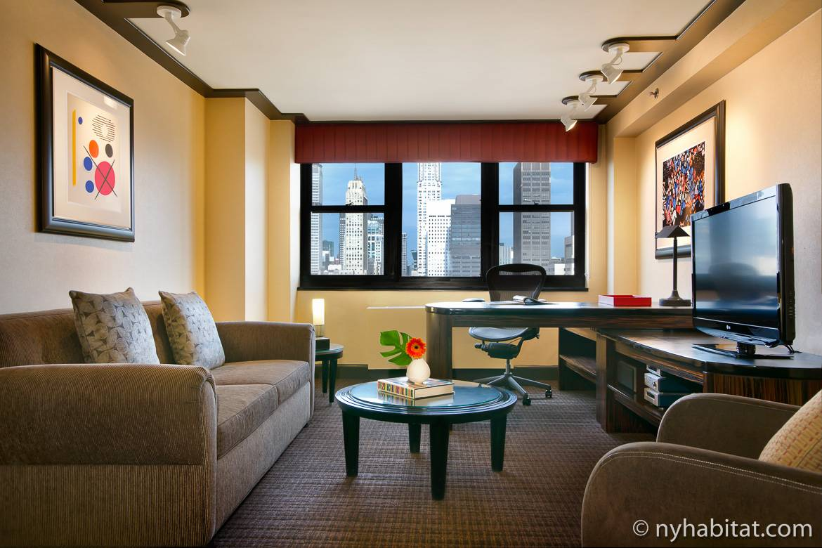 Scoprite gli appartamenti con vista panoramica su new york for Appartamenti con una camera da letto con garage