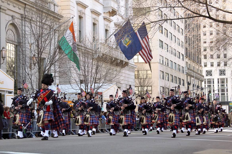 imagine della parata giorno di san Patrizio.