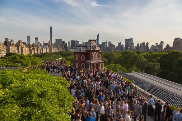 Foto del tetto del Metropolitan Museum da Central Park
