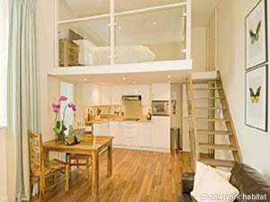 London Accommodation: Studio Duplex Apartment Rental in Notting Hill (