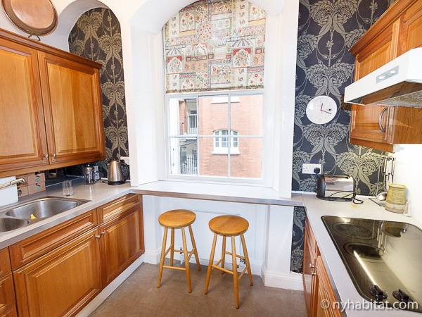 Londres Studio T1 appartement location vacances - cuisine (LN-931) photo 2 sur 3