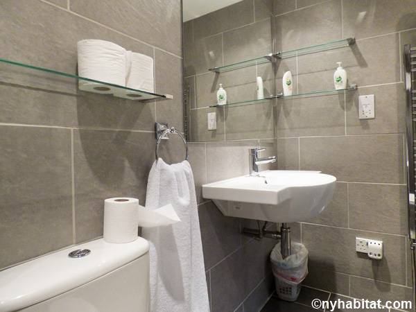 London 1 Bedroom - Townhouse apartment - bathroom (LN-1703) photo 4 of 5