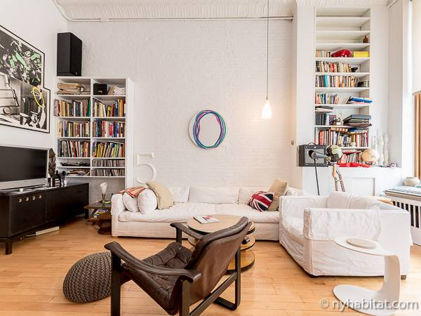 new york apartment: 2 bedroom loft - duplex apartment rental in