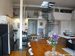 New york accommodation 2 bedroom loft duplex - 2 bedroom apartments for rent in nyc 1200 ...