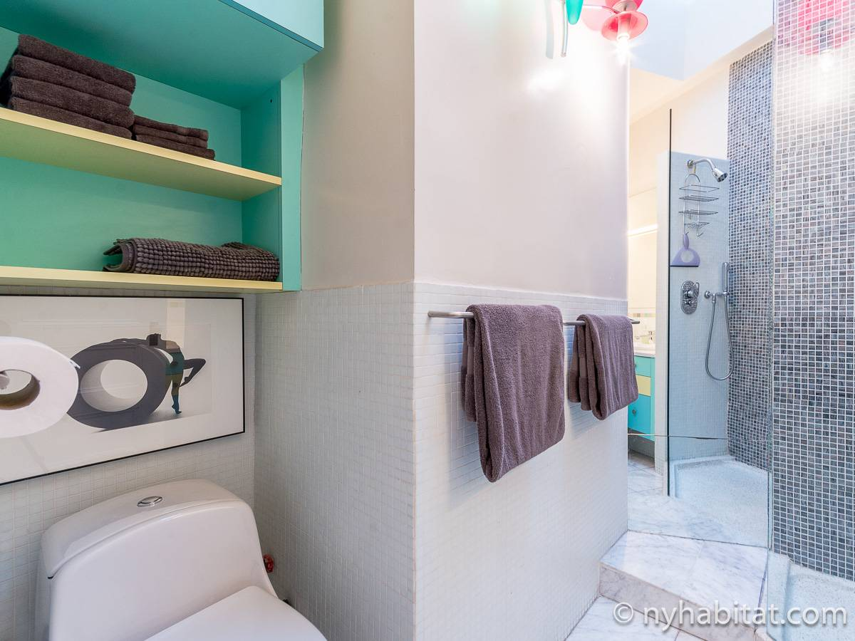 New York T3 - Duplex appartement location vacances - salle de bain 2 (NY-12274) photo 5 sur 7