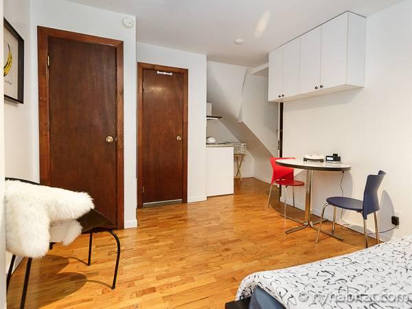 New Yorker Appartment kaminofen wohnzimmer panorama blick