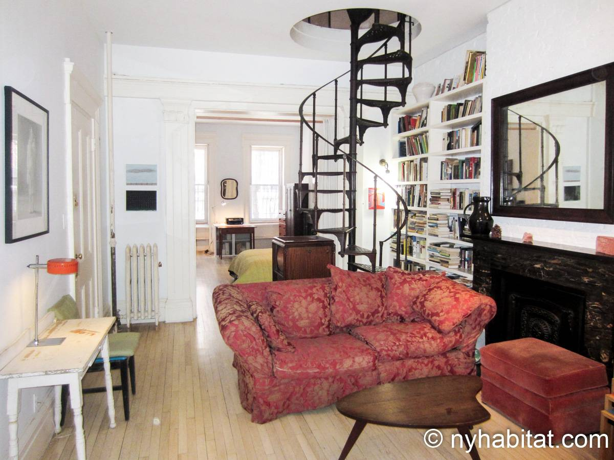 New York 1 Bedroom accommodation bed breakfast - living room (NY-14595) photo 3 of 4