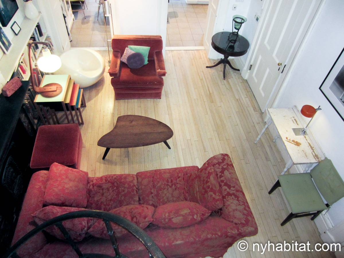 New York 1 Bedroom accommodation bed breakfast - living room (NY-14595) photo 4 of 4