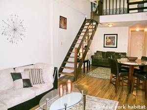 New York T2 - Loft - Duplex logement location appartement - séjour (NY-14764) photo 5 sur 9