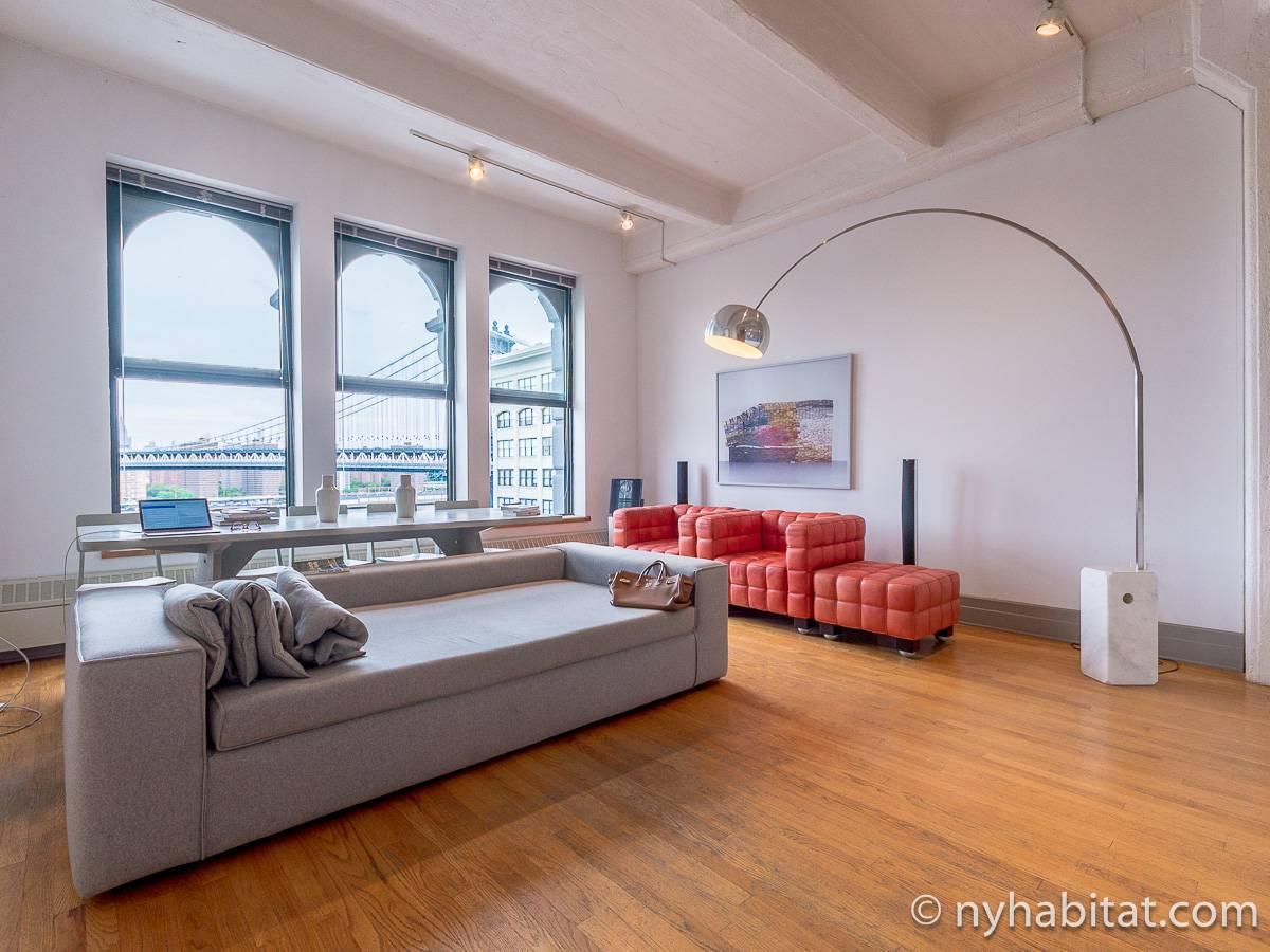 New York Apartment Alcove Studio Loft Apartment Rental in Dumbo