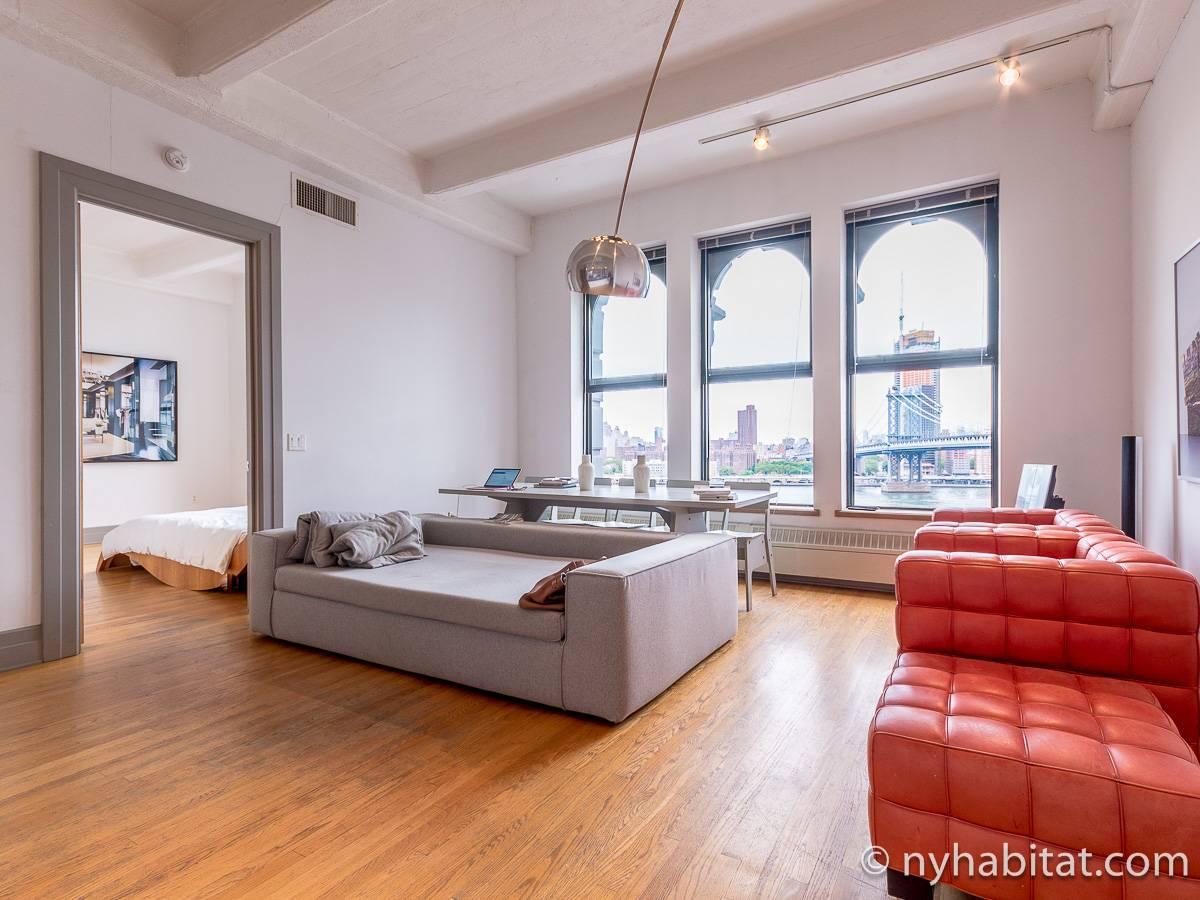 ... New York Alcove Studio   Loft Apartment   Living Room 1 (NY 14834) ...