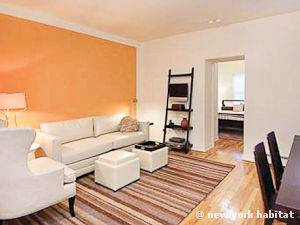 New York T2 logement location appartement - séjour (NY-15007) photo 3 sur 5