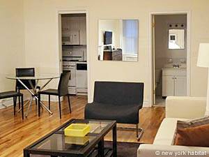 New York Studio T1 logement location appartement - séjour (NY-15091) photo 3 sur 3
