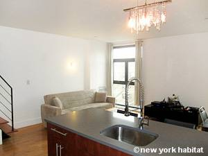 New York 2 Bedroom - Duplex accommodation bed breakfast - living room (NY-15299) photo 2 of 4