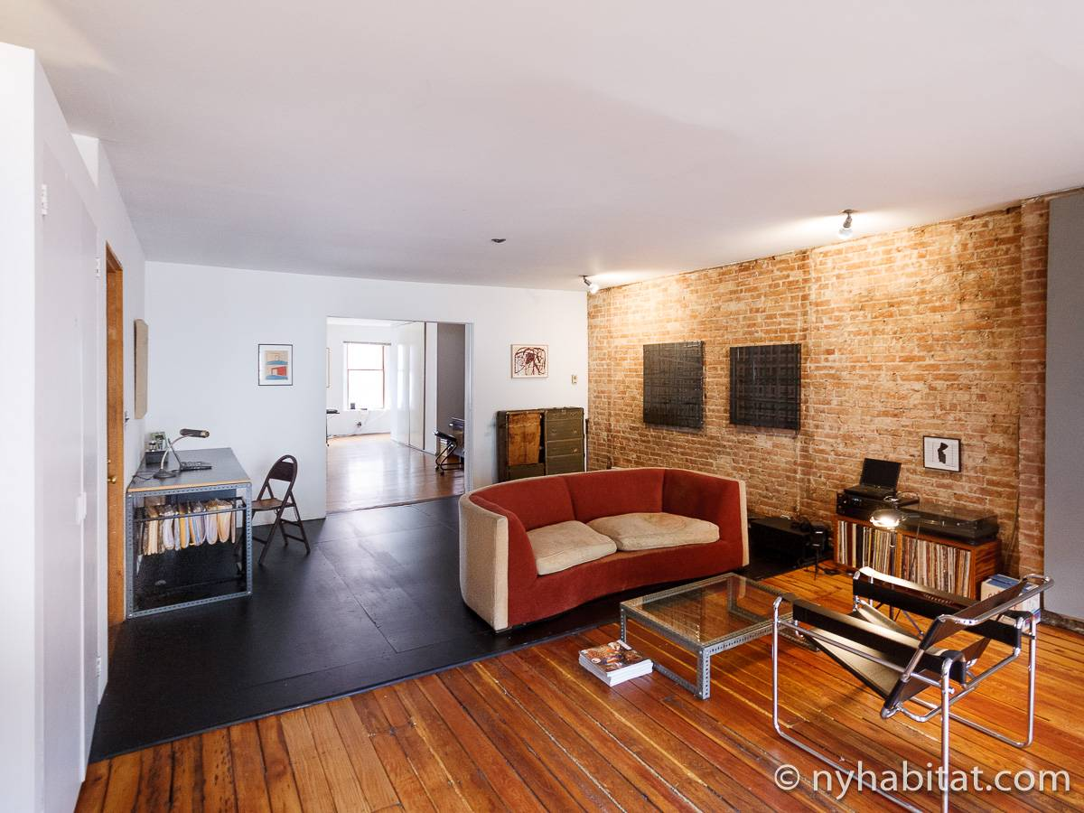 New York Apartment: 1 Bedroom Loft Apartment Rental In