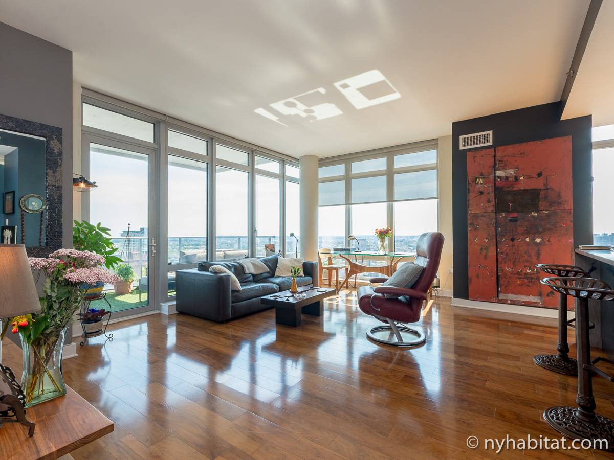 Beautiful The Living Room Williamsburg Part - 8: New York 2 Bedroom Apartment - Living Room (NY-16960) Photo 1 Of ...