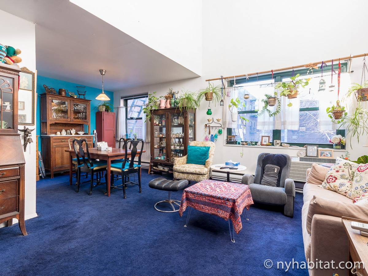 New York 3 Bedroom - Duplex roommate share apartment - living room (NY-17088) photo 1 of 12