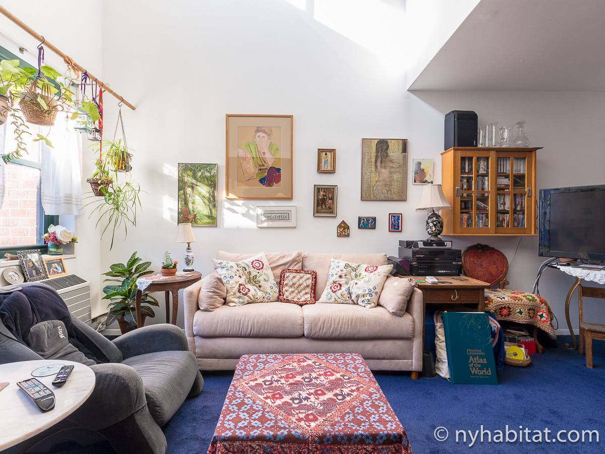 New York 3 Bedroom - Duplex roommate share apartment - living room (NY-17088) photo 6 of 12