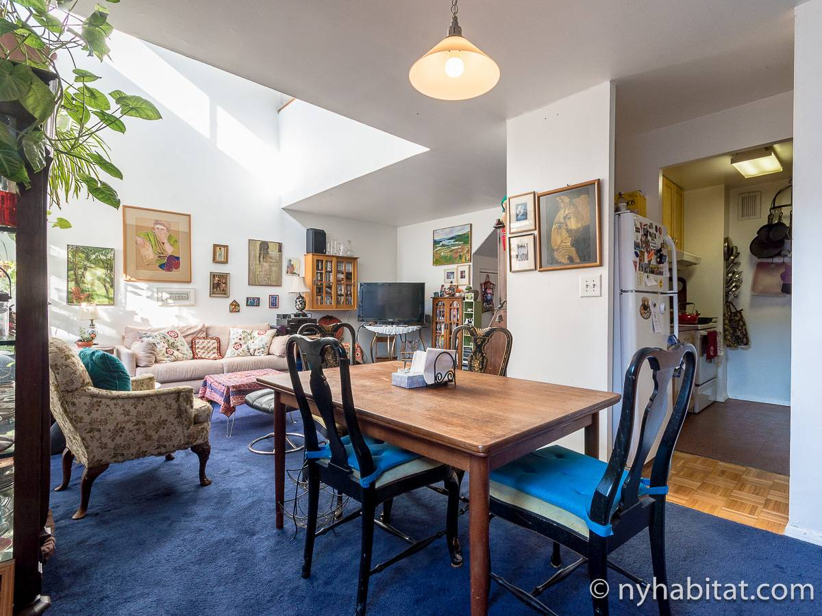 New York 3 Bedroom - Duplex roommate share apartment - living room (NY-17088) photo 12 of 12