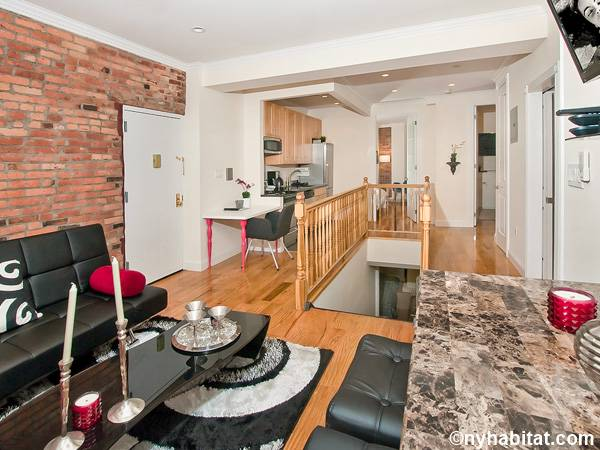 New York 3 Bedroom - Duplex roommate share apartment - living room (NY-17116) photo 3 of 4