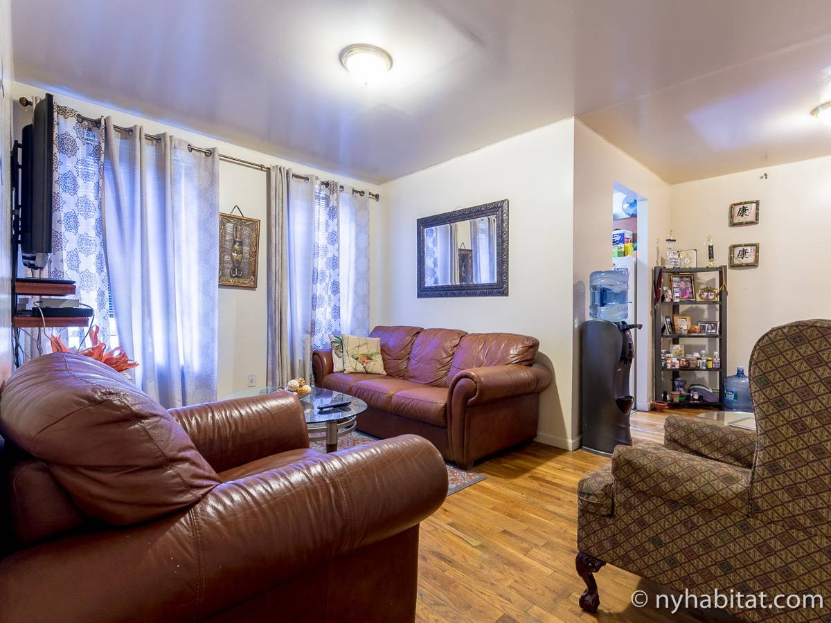 New York 2 Bedroom roommate share apartment - living room (NY-17170) photo 2 of 8