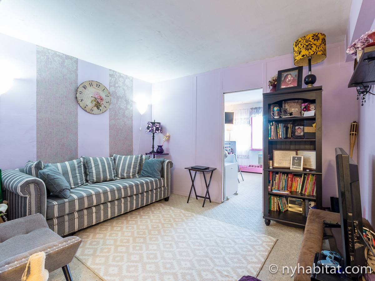 New York 2 Bedroom roommate share apartment - living room (NY-17274) photo 1 of 4