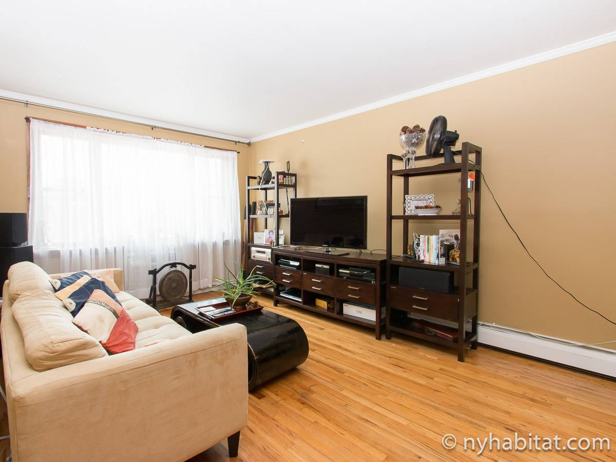 New York 2 Bedroom roommate share apartment - living room (NY-17277) photo 2 of 6
