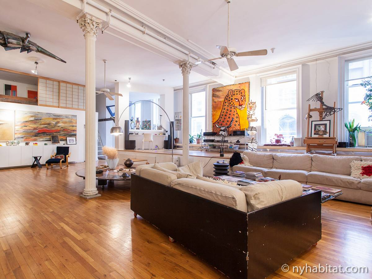 New york apartment 3 bedroom loft duplex apartment for Loft new york affitto