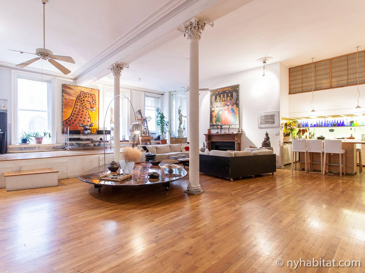 New York Apartment 3 Bedroom Loft Duplex Apartment Rental In Tribeca Ny 5278