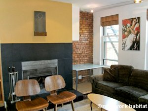 New York 1 Bedroom - Loft apartment - living room (NY-8032) photo 6 of 7